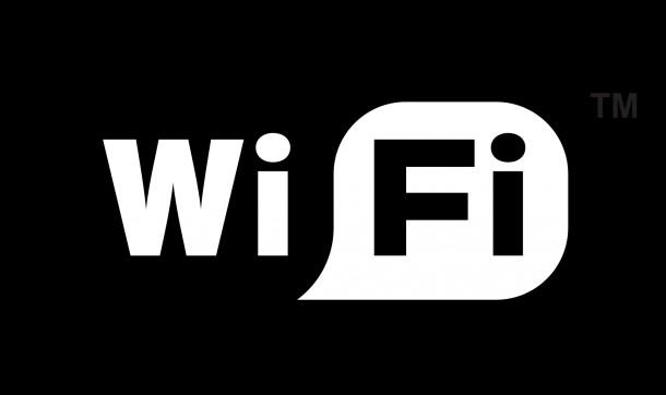 Logo Wi-Fi na urządzeniach pracujących bezprzewodowo Network DESIGN